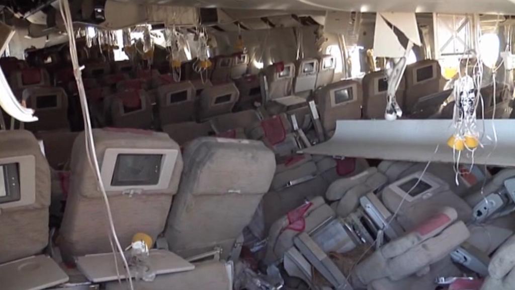 Havarovaný Boeing neutrpěl větší škody
