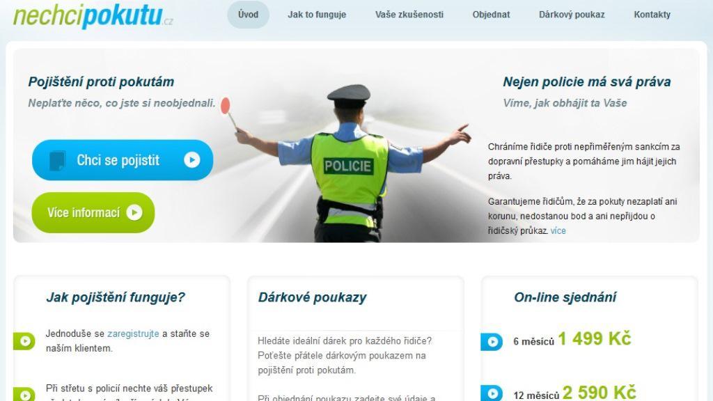Stránka sdružení Nechcipokutu.cz