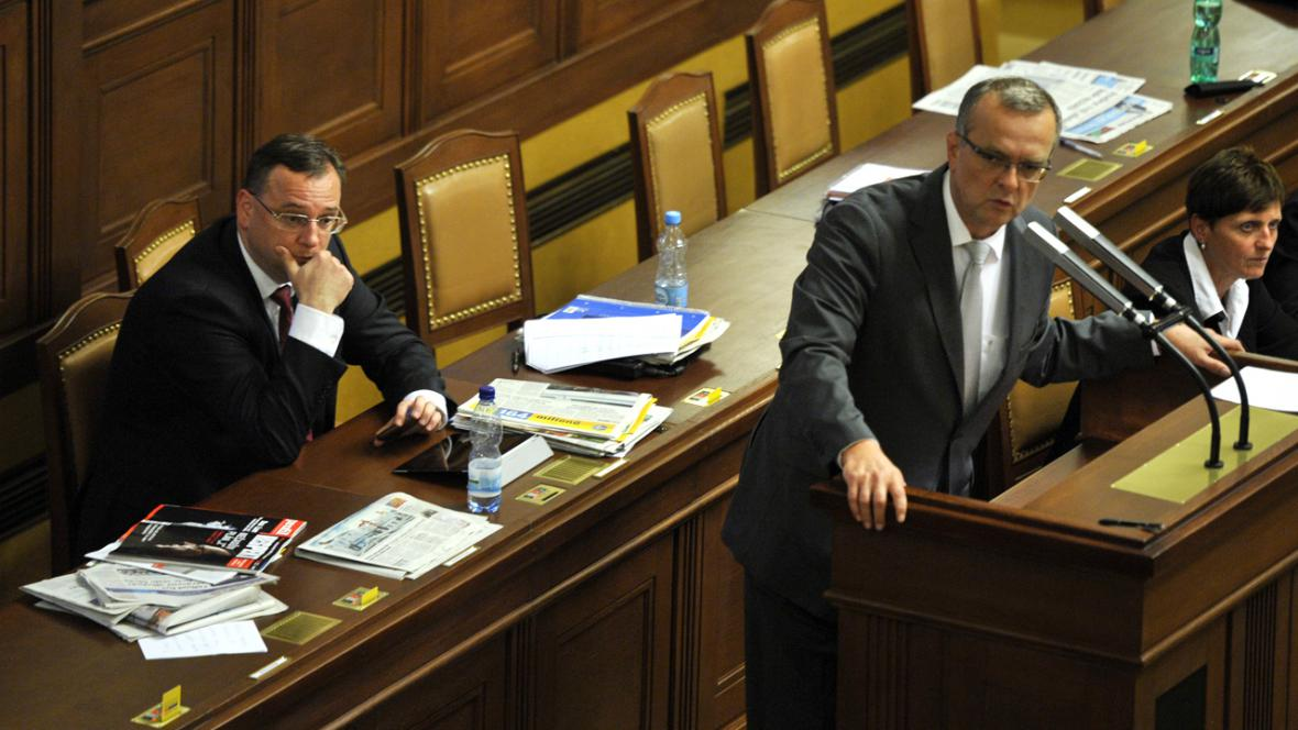 Petr Nečas a Miroslav Kalousek