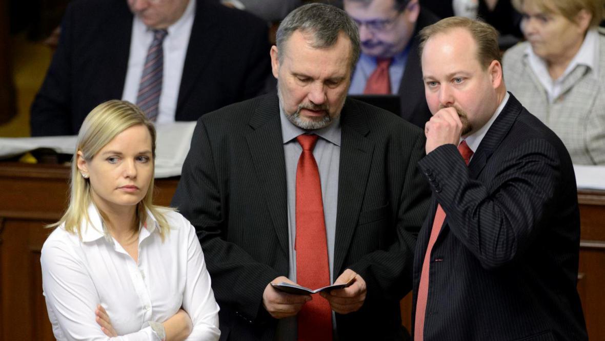 Kateřina Klasnová, Pavel Kováčik a Jeroným Tejc