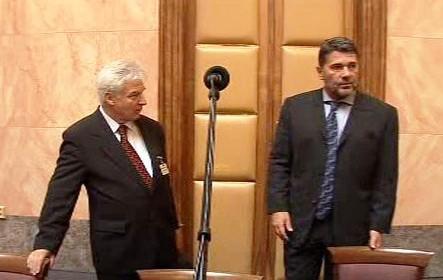 Miloš Melčák a Jan Kalvoda u Ústavního soudu