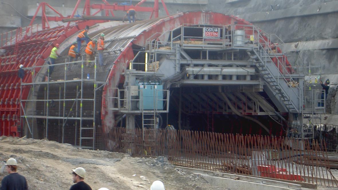 Stavba klimkovického tunelu