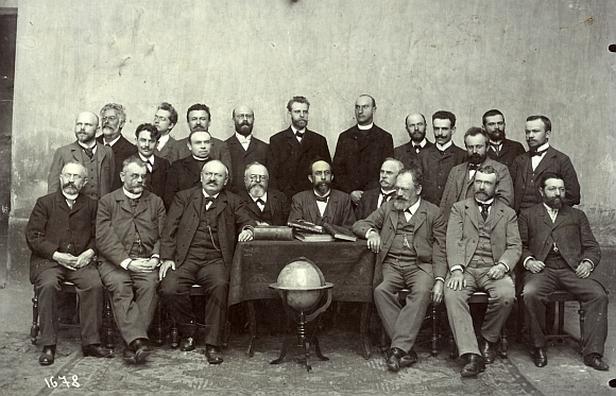 Karel Klostermann s profesory německé reálky v Plzni