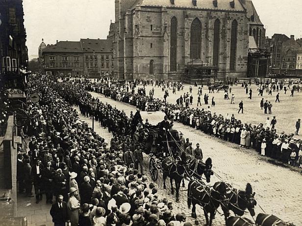 Klostermannův pohřeb v Plzni