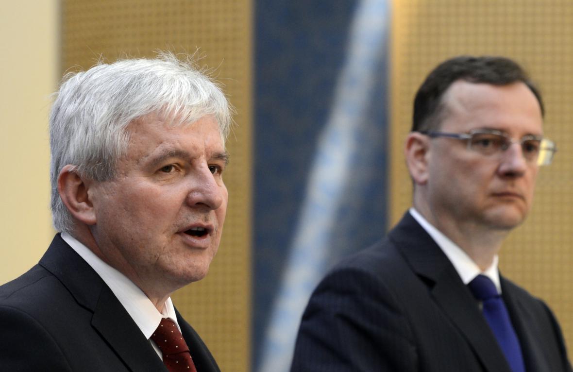 Jiří Rusnok a Petr Nečas