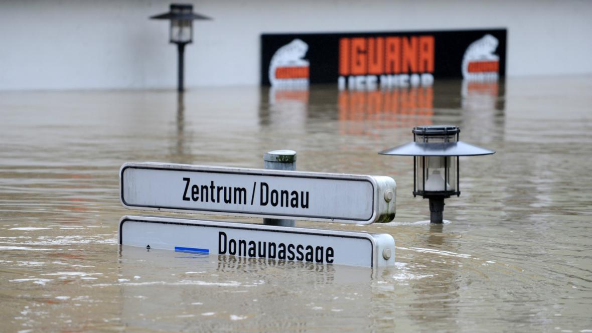 Centrum Pasova pohltil Dunaj