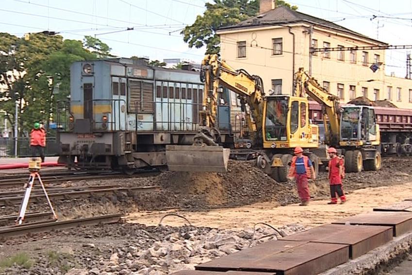 Oprava viaduktu u Křenové ulice v Brně
