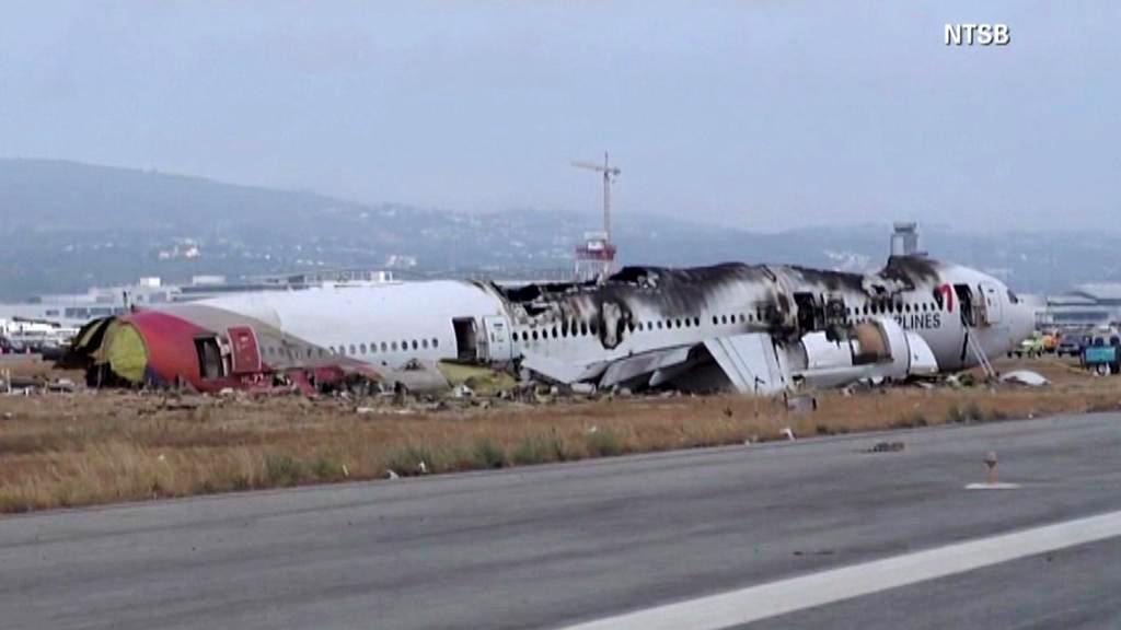 Havarovaný Boeing 777