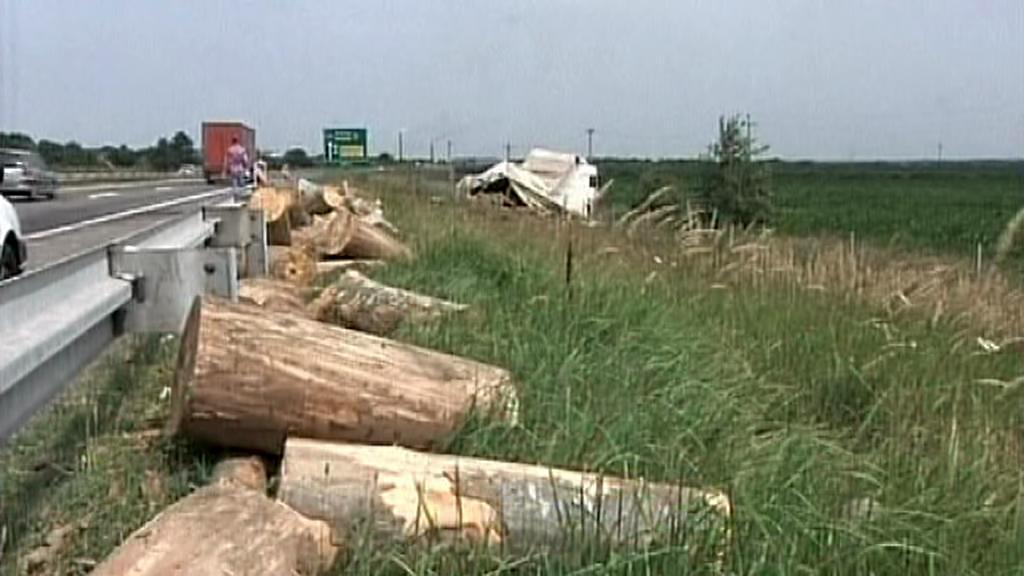 Místo nehody autobusu CK Rialto v Srbsku