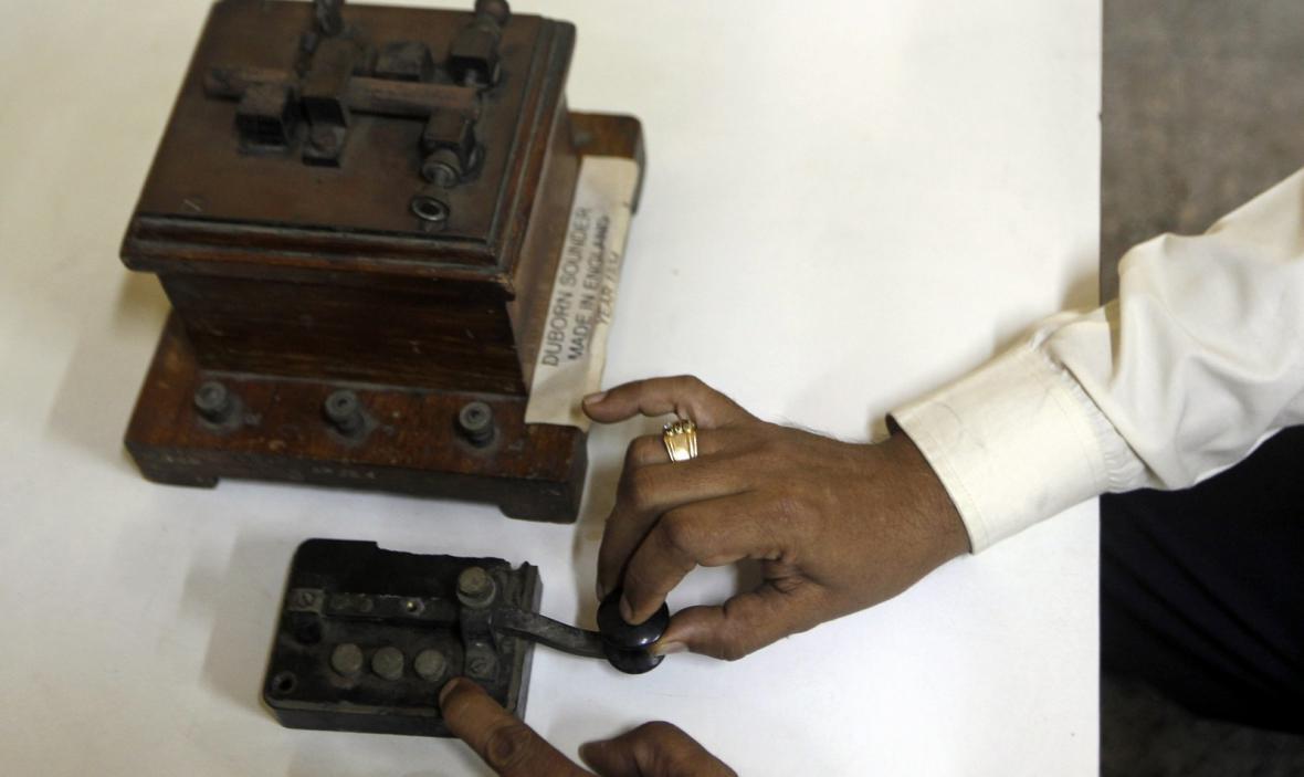 Posílání telegramů v Indii