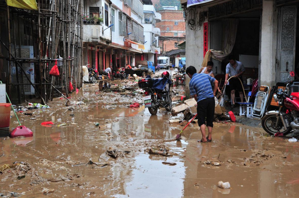 Následky tajfunu v Číně