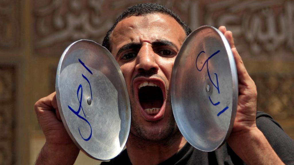 Demonstrace na náměstí Tahrír