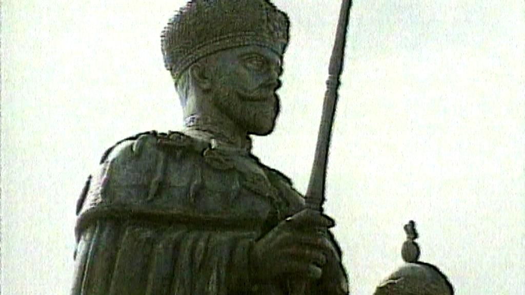Socha ruského cara Mikuláše II.