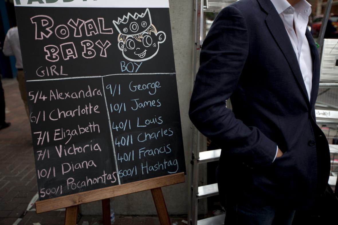 Britové tipují jméno potomka Kate a Williama