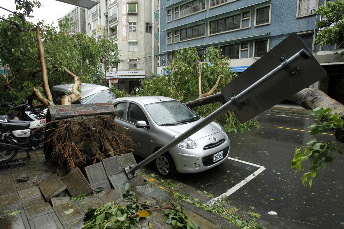Následky tajfunu na Tchaj-wanu