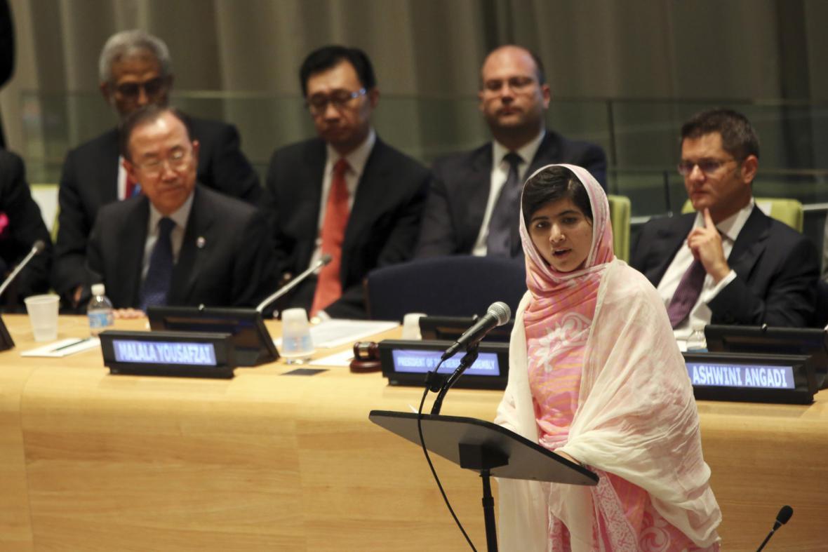 Malala Júsufzaiová v OSN