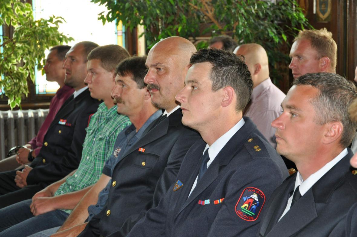 Poděkování náchodským dobrovolným hasičům