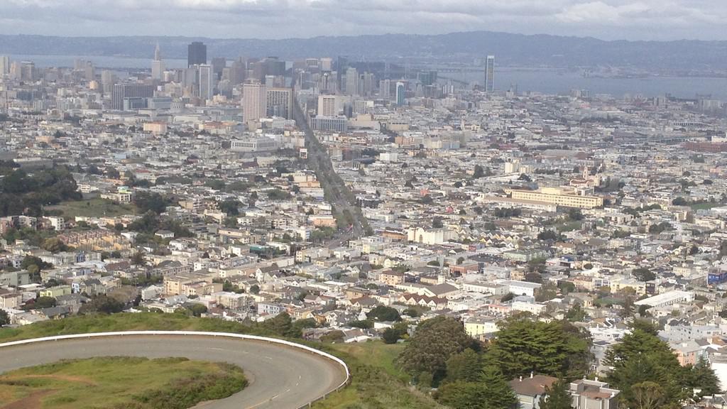Panorama San Francisca z vyhlídky Twin Peaks