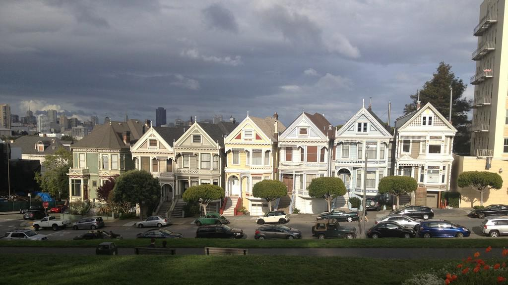 Zrekonstruované domy ve čtvrti Castro
