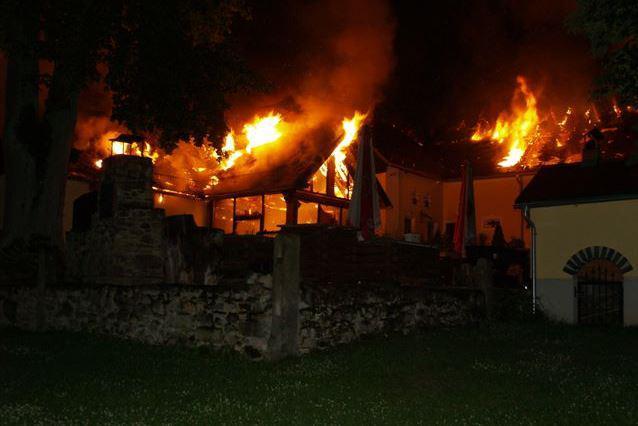 Požár penzionu