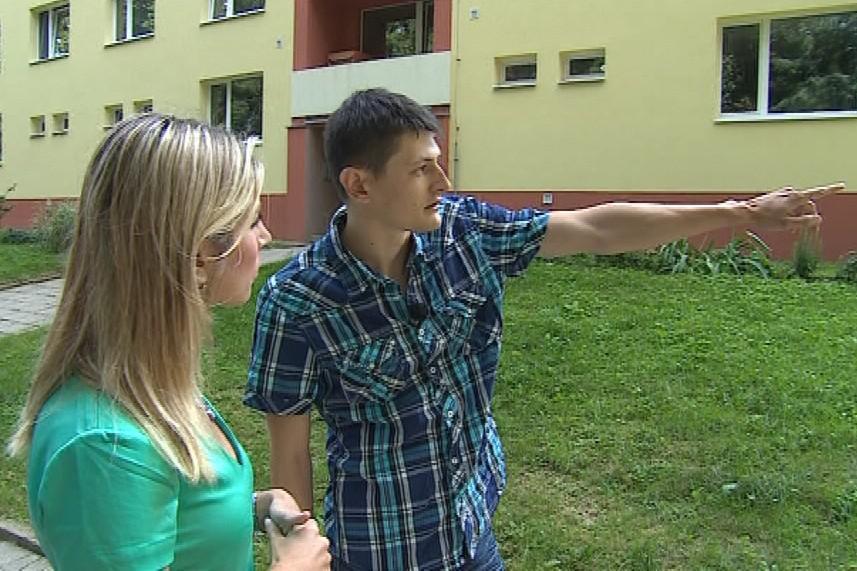 Jaroslav Schindler na místě, kde měl spáchat přepadení