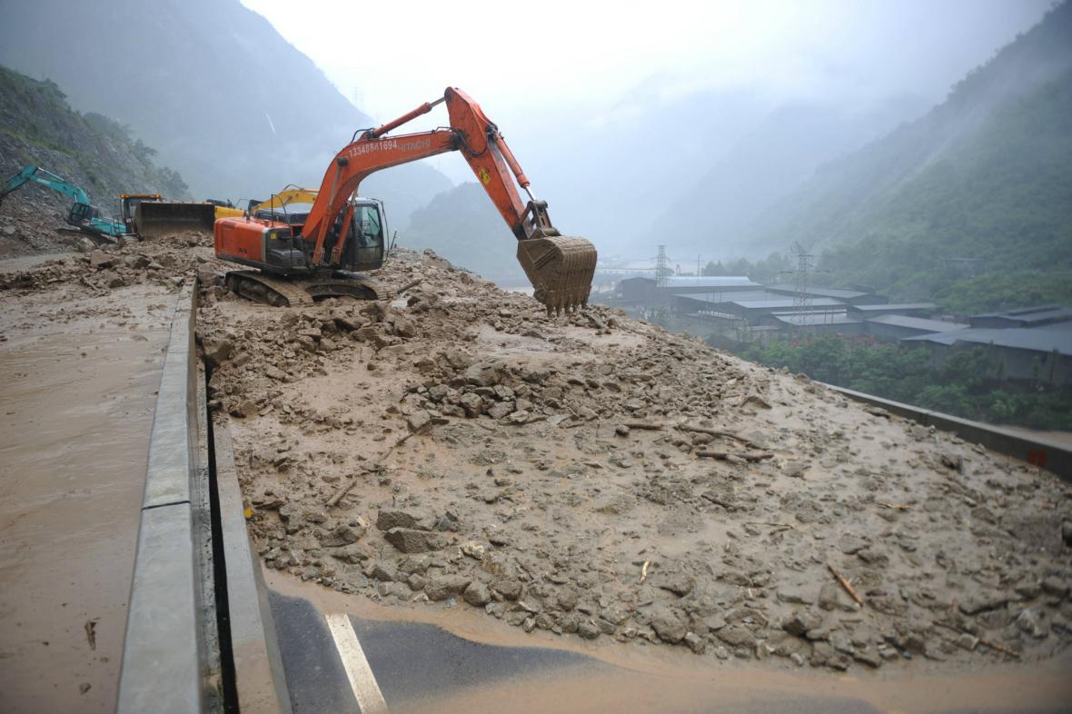 Záplavy v západní Číně