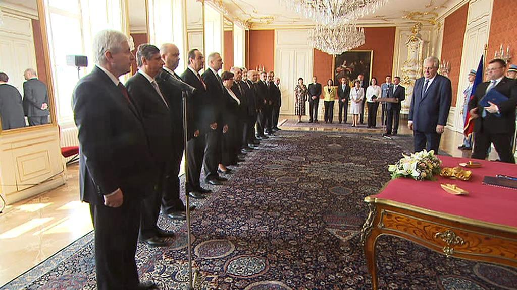 Jmenování Rusnokovy vlády