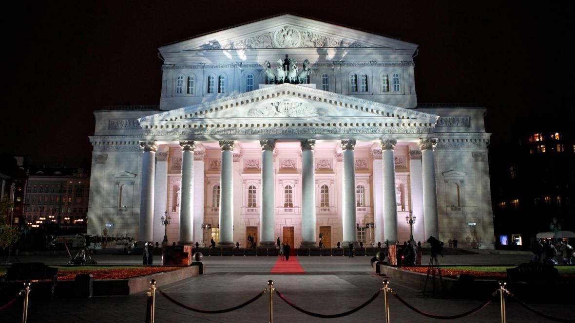 Velké divadlo (Bolšoj těatr) v Moskvě