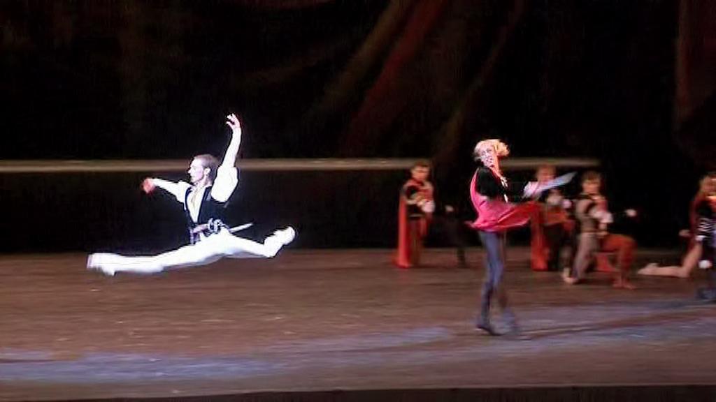 Baletní představení v moskevském Velkém divadle