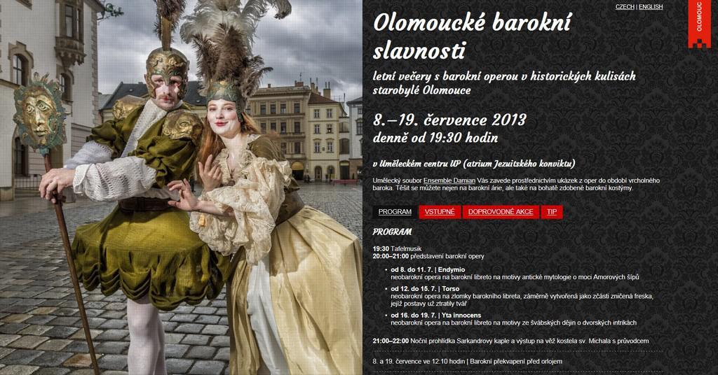 Olomoucké barokní slavnosti / poutač