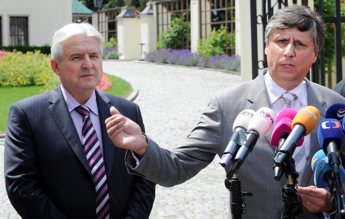 Jan Fischer a Jiří Rusnok