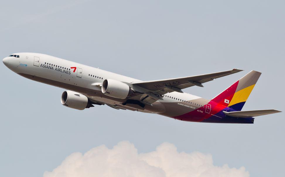 Boeing 777, který havaroval v San Francisku