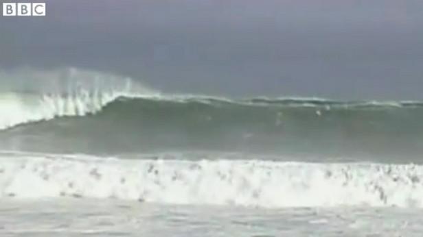 Vysoké vlny na pobřeží Jižní Ameriky