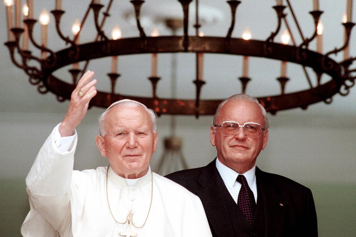Papež Jan Pavel II. a německý prezident Roman Herzog