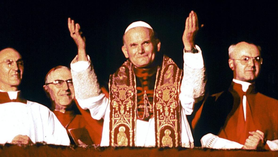 Papež Jan Pavel II. po svém zvolení