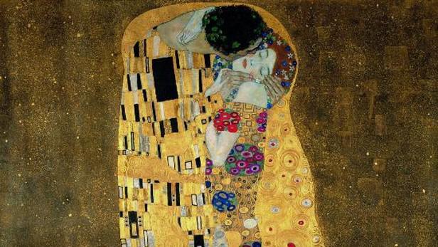 Gustav Klimt / Polibek (1907-8)