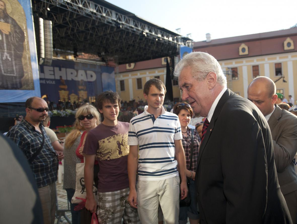 Prezident Miloš Zeman dorazil na Velehrad už ve čtvrtek