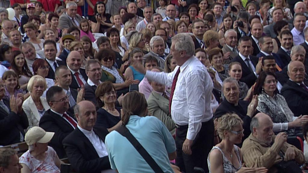 Prezident Miloš Zeman na koncertě Dnů lidí dobré vůle