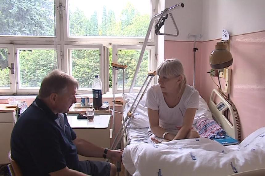Nina Špačková se zranila na přejezdu v Adamově