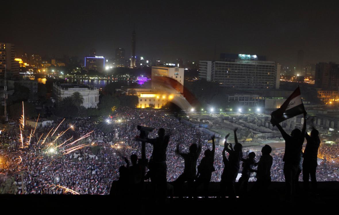 Oslavy na náměstí Tahrír