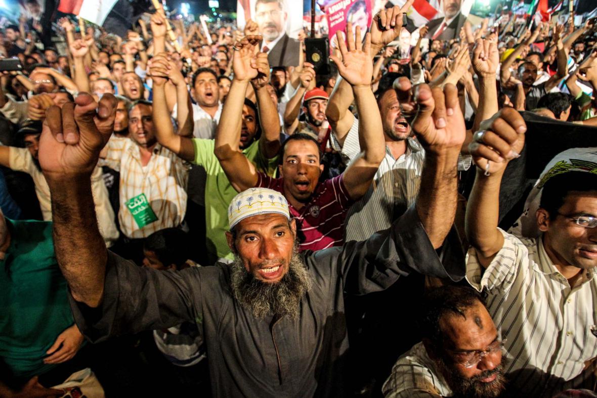 Přívrženci prezidenta Mursího