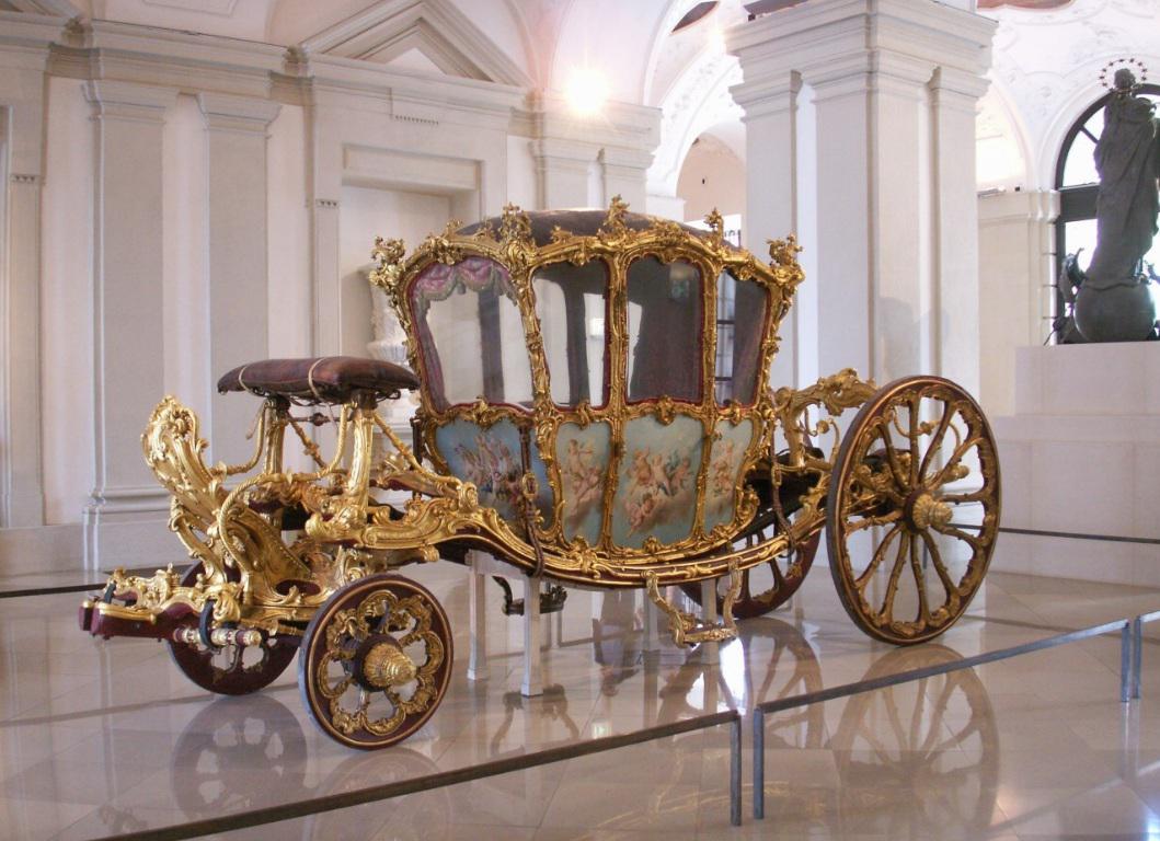 Zlatý kočár se na valtické výstavě představí ve 3D