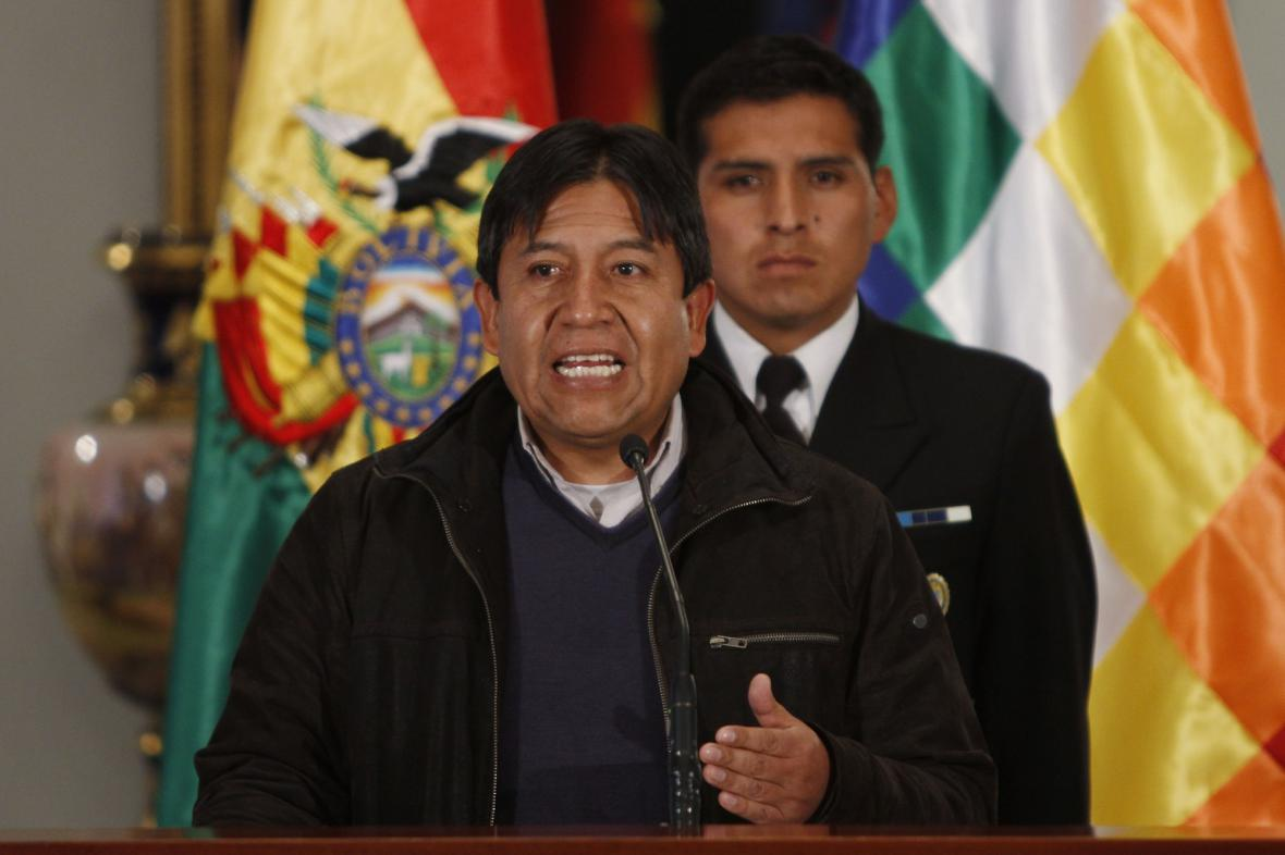 Bolivijský ministr zahraničí David Choquehuanca