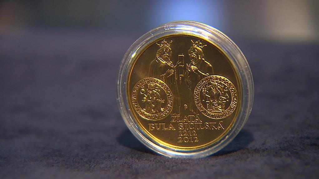 Pamětní mince k 800. výročí vydání Zlaté buly sicilské