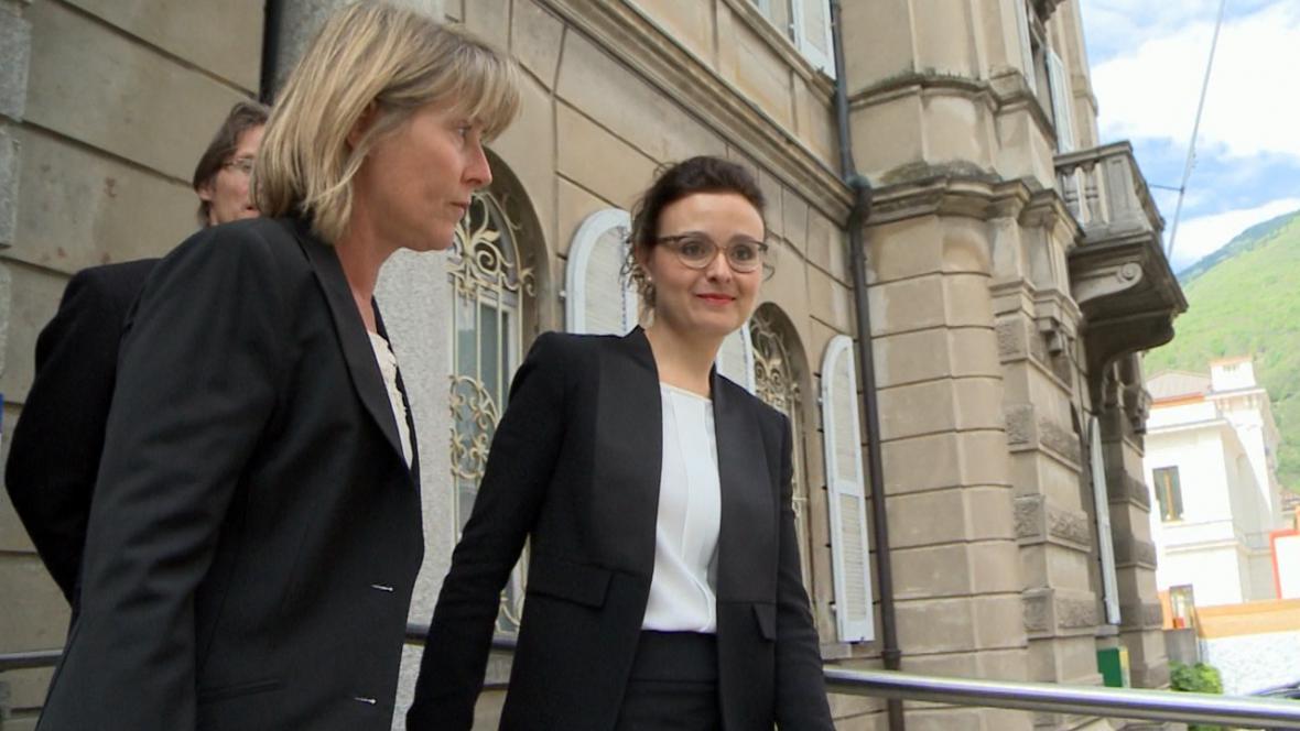 Hlavní prokurátorka Graziella de Falco Haldemannová v kauze MUS (vpravo)