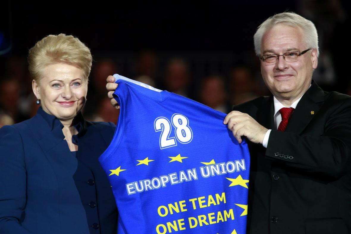 Litevská prezidentka vítá Chorvatsko v EU