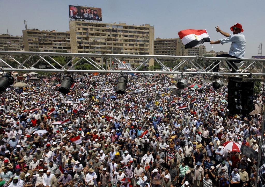 Příznivci prezidenta Mursího v Káhiře