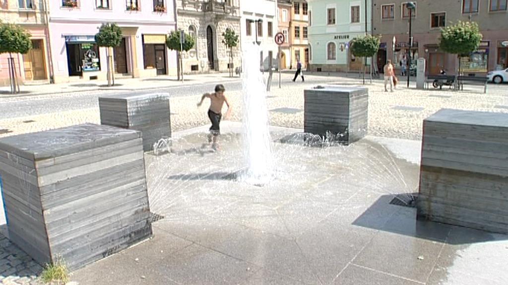Kašna na náměstí ve Šternberku
