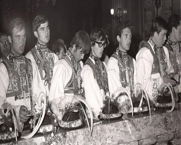 Krojovaný průvod z Kyjovska na Velehradě (1969)