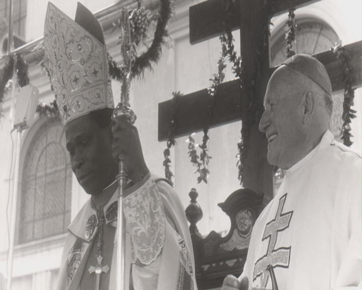 Kardinálové Tomášek a Gantin (1981)